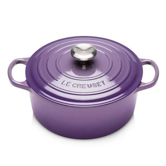 Le Creuset Signature Round Casserole 24 SS Knob Ultra Violet