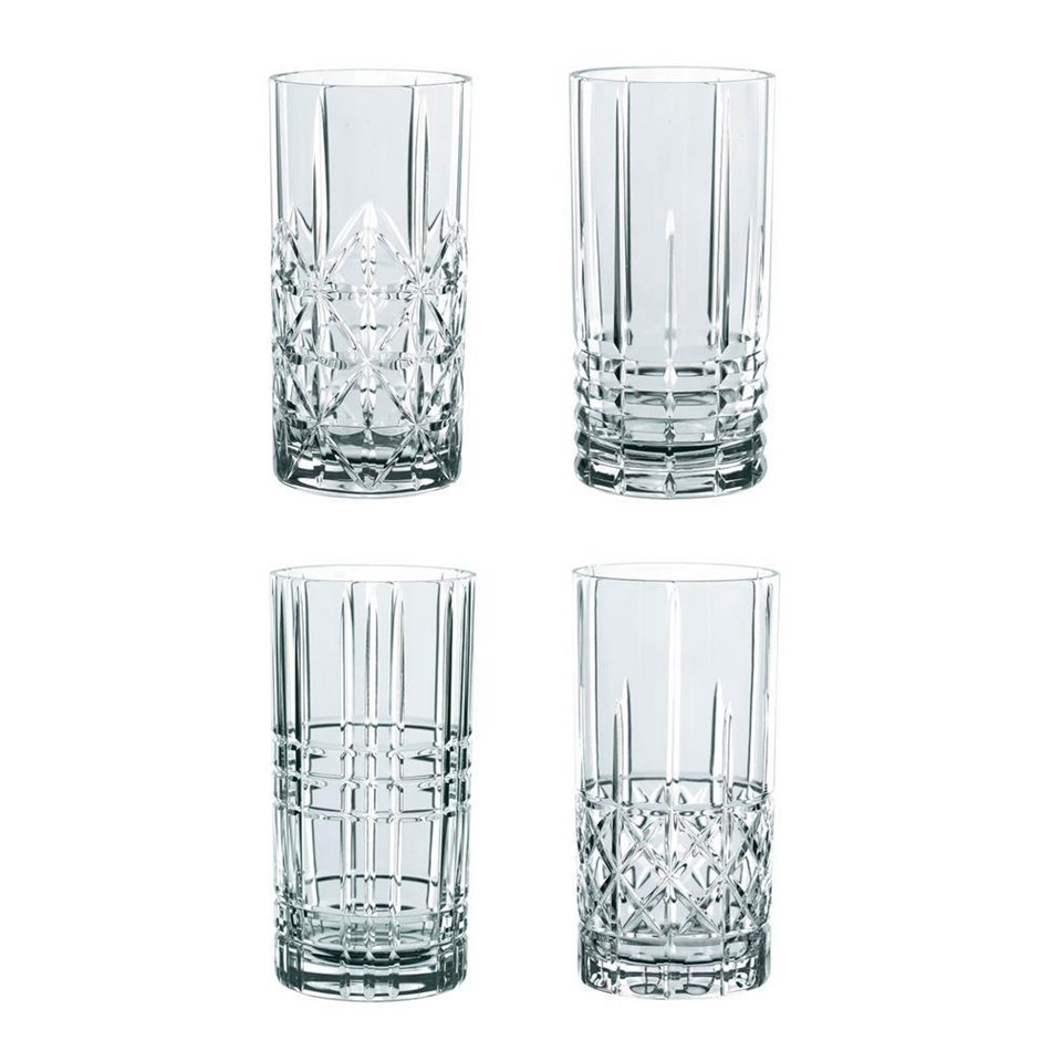 Nachtmann Highland Long Tumblers Set Of 4 - clear