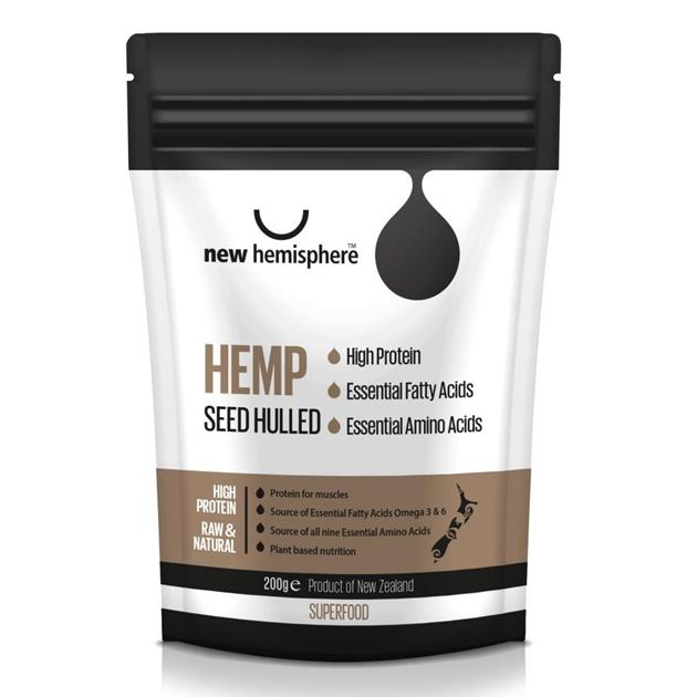 New Hemisphere Hulled Hemp Seed 200g -