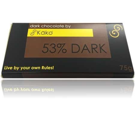 Kako Chocolate Luxury Tablet Dark 53% Chocolate 75g