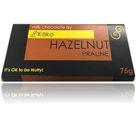 Kako Chocolate Luxury Tablet Hazelnut Praline Milk 75g