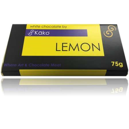 Kako Chocolate Luxury Tablet Lemon White 75g