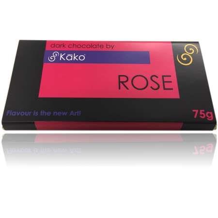Kako Chocolate Luxury Tablet Rose Dark 75g