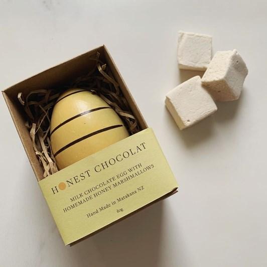 Honest Chocolat Bumble Bee Milk Chocolate Egg With Honey Marshmallows 55g