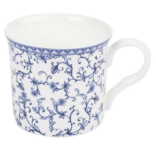 Ashdene Indigo Blue Scroll Wide Flare Mug