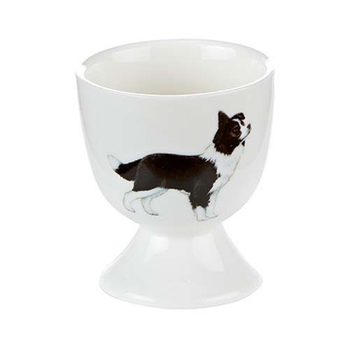 Orchid Bone China Eggcup - Boarder Collie