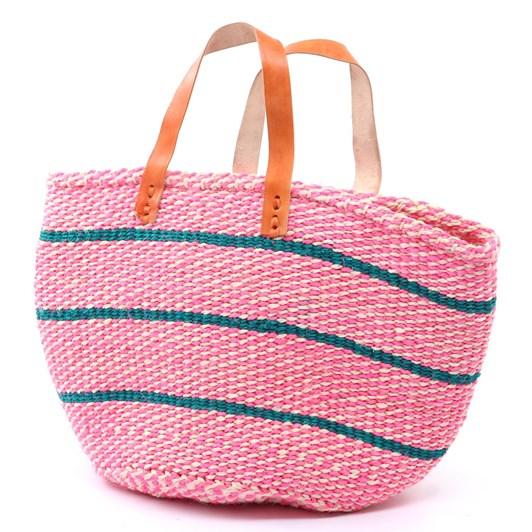 Pink Woven Basket