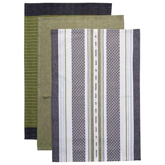 Ladelle Oliver Kitchen Towels Pack Of 3
