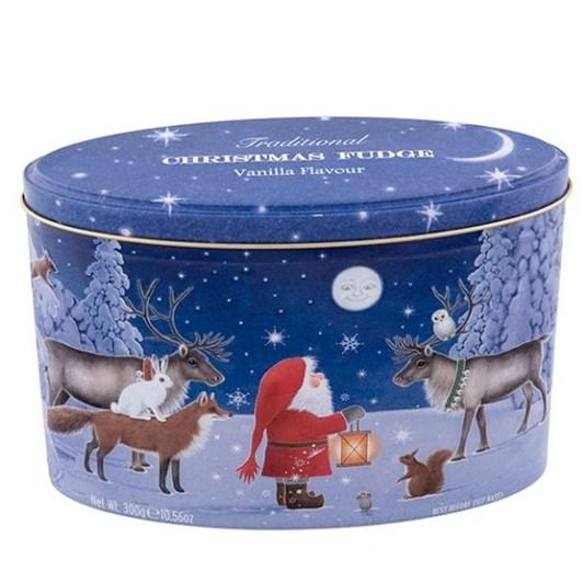 Gardiners Of Scotland Christmas Santa And Moon Fudge Tin 300g