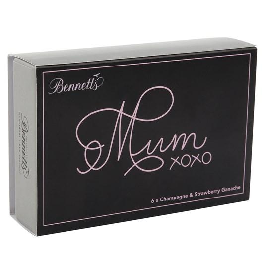Bennetts of Mangawhai Champagne & Strawberry Ganache Chocolates Box Of 6