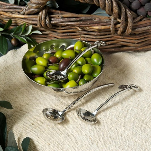 Culinary Concepts Olive Bowl And Polished Knot Olive Spoon