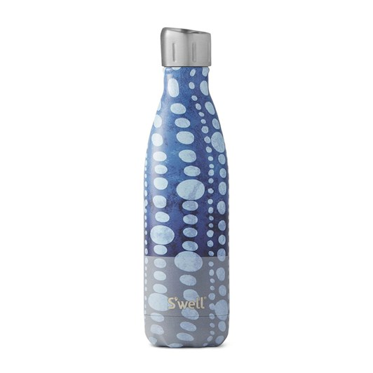 S'Well Sports Collection Blue Polka Dot Insulated Bottle 500ml