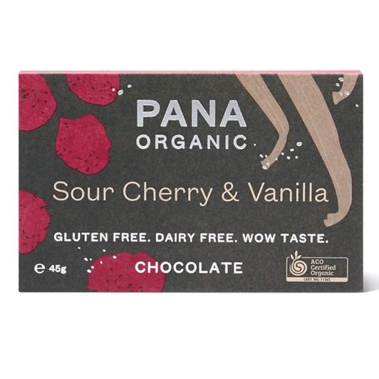 Pana Bar Sour Cherry & Vanilla 45g