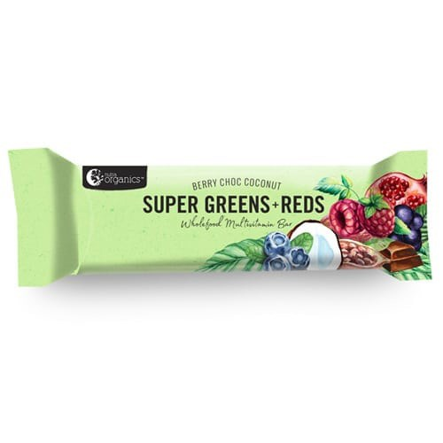 Nutra Super Greens + Reds Bar 45g