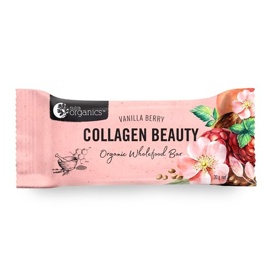 Nutra Vanilla Berry Collagen Beauty Organic Wholefood Bar 30g