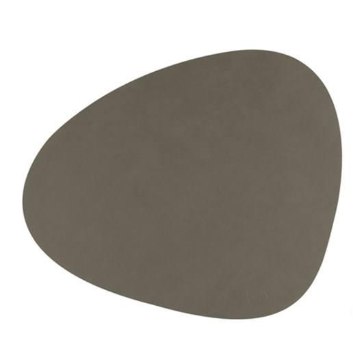 LIND DNA Table Mat Curve L (37X44Cm) Nupo Olive Green