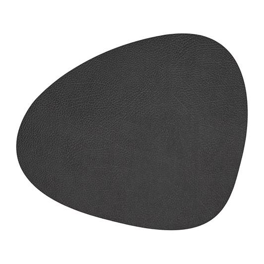 LIND DNA Table Mat Curve L (37X44Cm) Hippo Black Anthracite