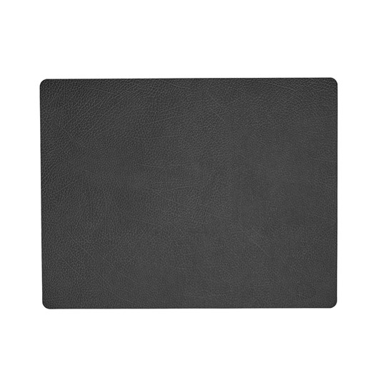 LIND DNA Table Mat Square L (35X45Cm) Hippo Black Anthracite