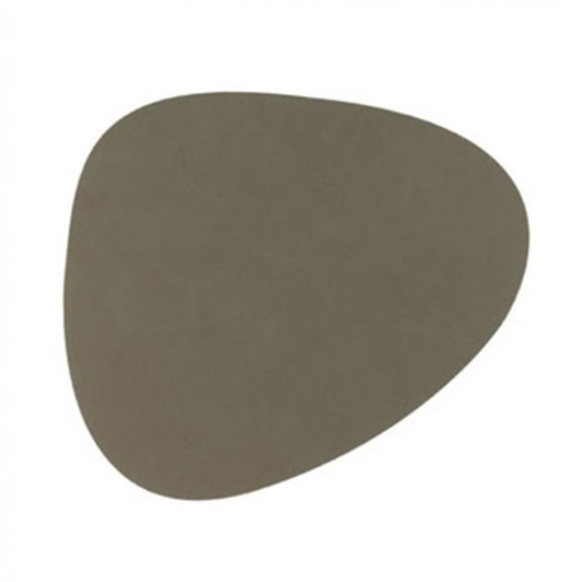 LIND DNA Glass Mat Curve (11X13Cm) Nupo Olive Green