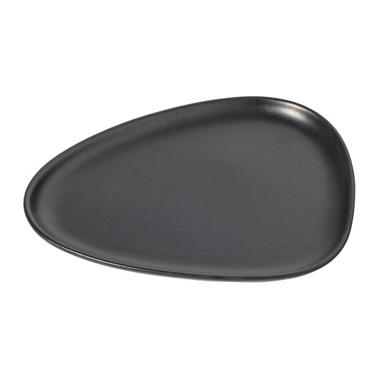 LIND DNA Lunch Plate (22X19X1,5Cm) Stoneware Black