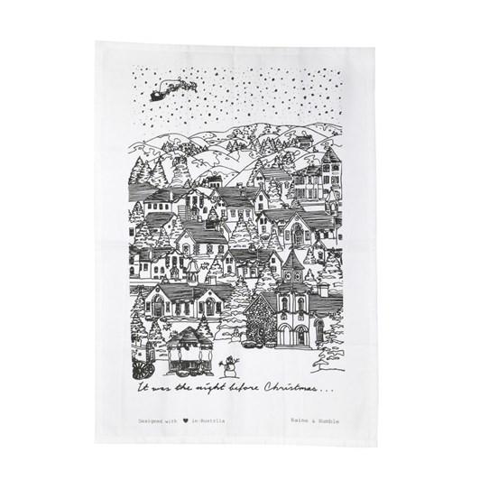 Night Before Christmas Tea Towel Grey 50x70cm