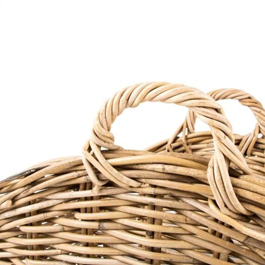 Trade Aid Grey Rattan Basket 30x52cm