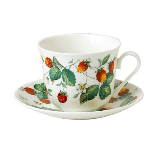 Roy Kirkham Alpine Strawberry Breakfast Cup & Saucer