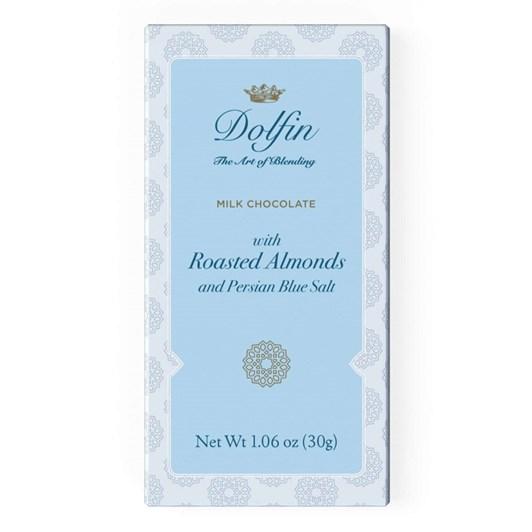 Dolfin Milk Chocolate With Roasted Almonds & Persian Blue Salt 30g