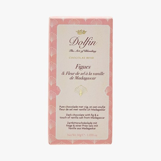 Dolfin Dark Chocolate With Figs & Vanilla Salt From Madagascar 30g