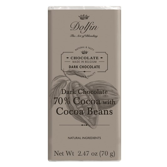 Dolfin Extra Dark 70% With Cocoa Beans 70g