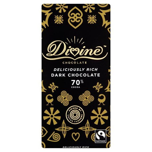 Divine 70% Dark Chocolate Bar 90g
