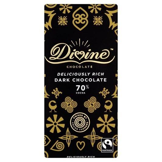Divine 70% Dark Chocolate Bar 90g