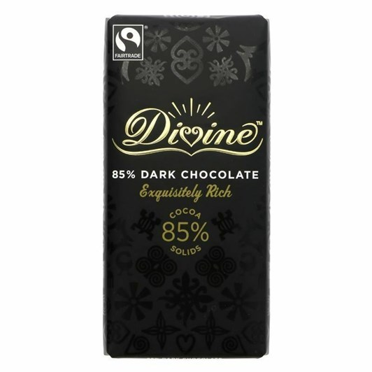 Divine 85% Dark Chocolate Bar 90g