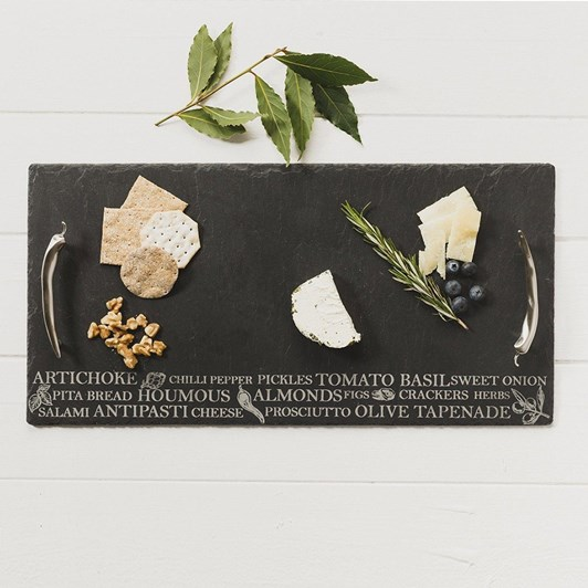 Just Slate Etched Medium Antipasti Serving Tray