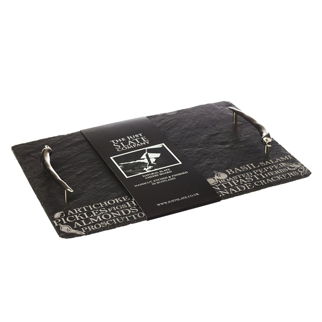 Just Slate Etched Medium Antipasti Serving Tray - na