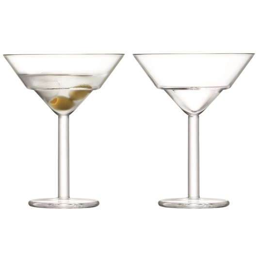 LSA Mixologist Cocktail Martini Glass 230ml Clear X 2
