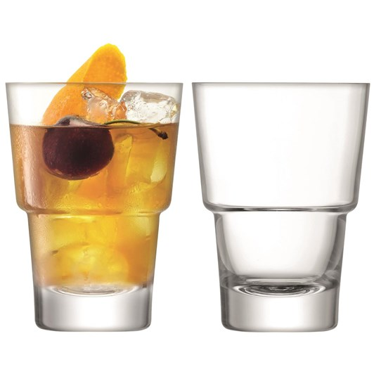 LSA Mixologist Cocktail Tumbler 320ml Clear X 2