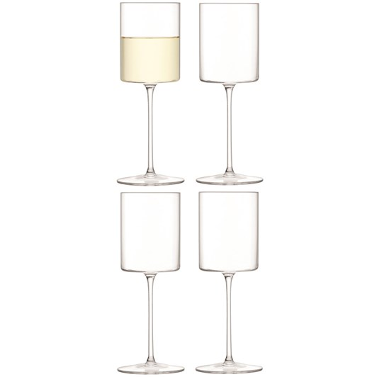 LSA Otis White Wine Glass 240ml Clear X 4