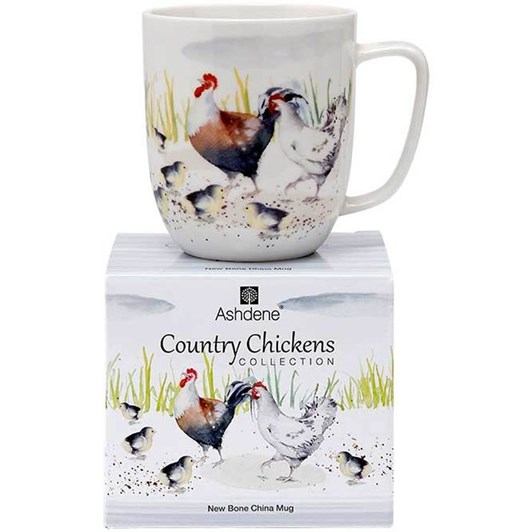 Ashdene Country Chickens Family Mug