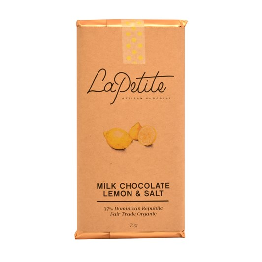 La Petite Artisan Chocolat All Stars Bar 37% Lemon & Salt 70g