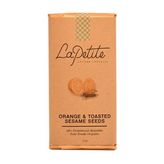 La Petite Artisan Chocolat All Stars Bar 58% Orange & Toasted Sesame Seeds