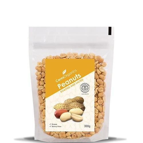 Ceres Organics Peanuts Roasted Salted 300g