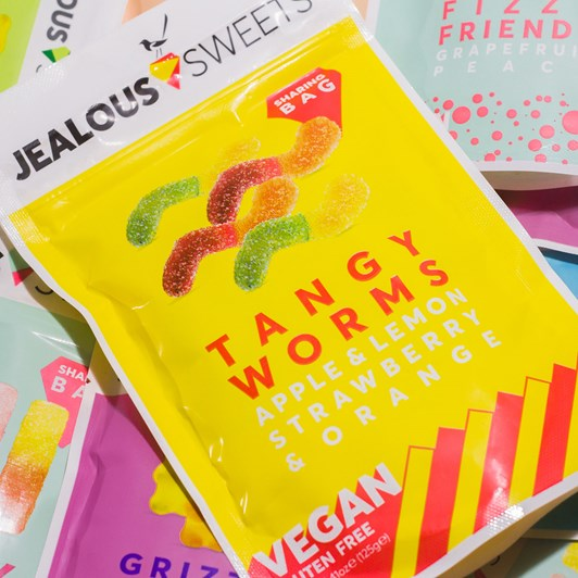 Jealous Tangy Worms 125g Share Bags