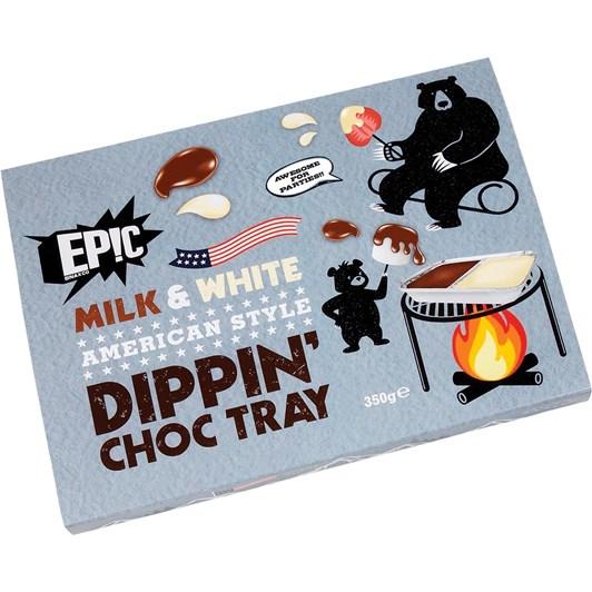 Epic Milk & White American Style Choc Dippin Tray 350g