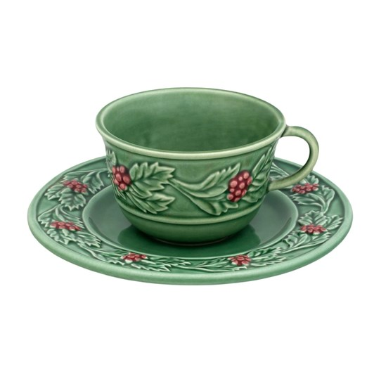 Bordallo Holly Cup & Saucer