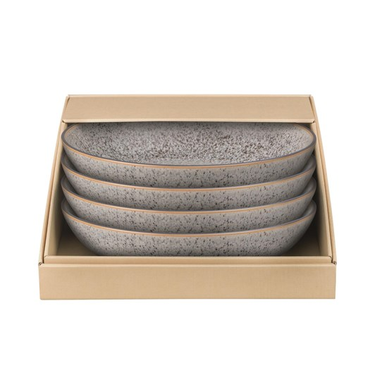 Denby Studio Grey Pasta Bowl Set Of 4 Grey