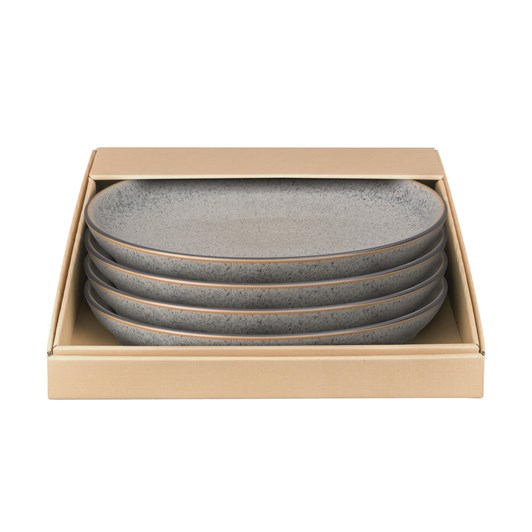 Denby Studio Grey Dinner Plate Set Of 4 Grey