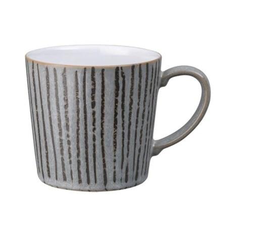 Denby Standalone Mug Vertical Stripe Grey