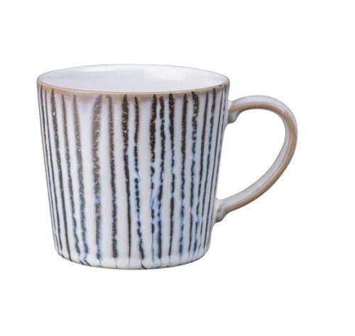 Denby Standalone Mug Vertical Stripe White