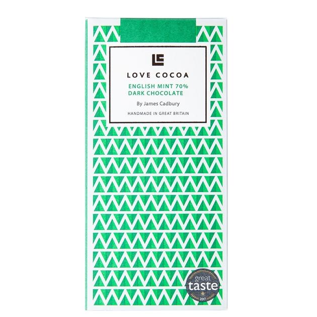 Love Cocoa English Mint Dark Chocolate 80G - na